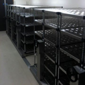 Clean Room Mobile Roller Shelving