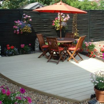 Garden decking ideas bring yours to life a b products for Garden decking materials