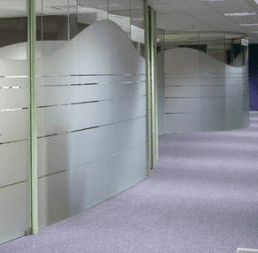 Crystal Glazed Partitioning Installation