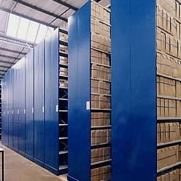 Mobile Shelving for Archive Storage