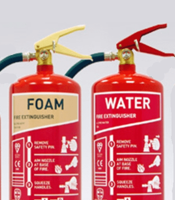 Water, Foam, CO2 and Powder Extinguishers