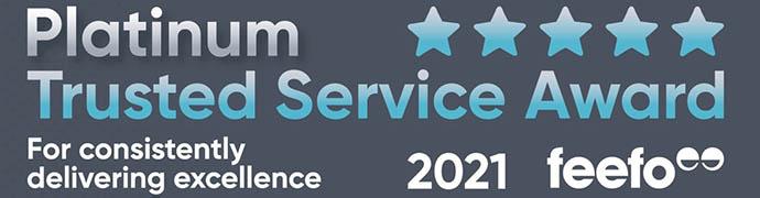 Platinum Trusted Service Award 2021