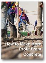 Make profit from concrete