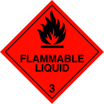 Flammable Liquid Label