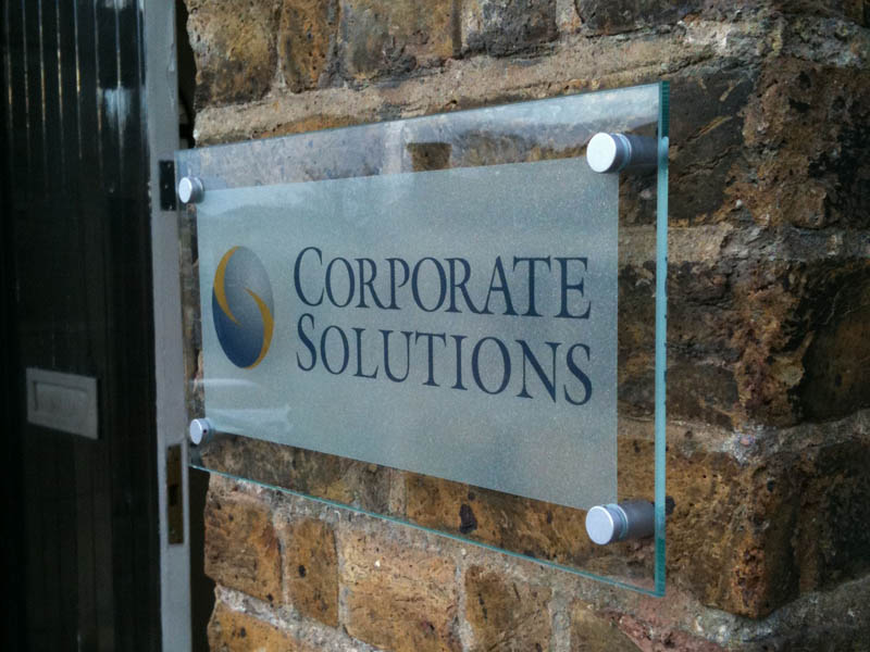 Action Signs Corporate Signs London Reception Signs