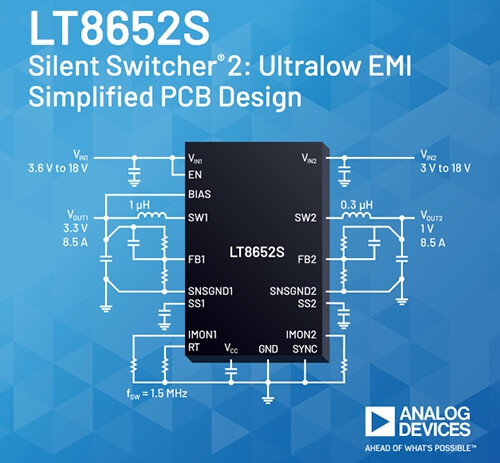 Analog Devices' Dual Silent Switcher Series