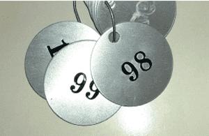 Serial Numbered Aluminium Tags