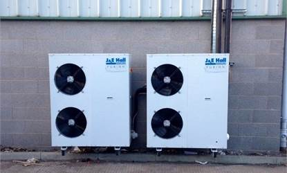 J & E Hall condensing units installed at marine coldroom