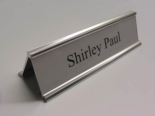 Double Sided Desk Signs