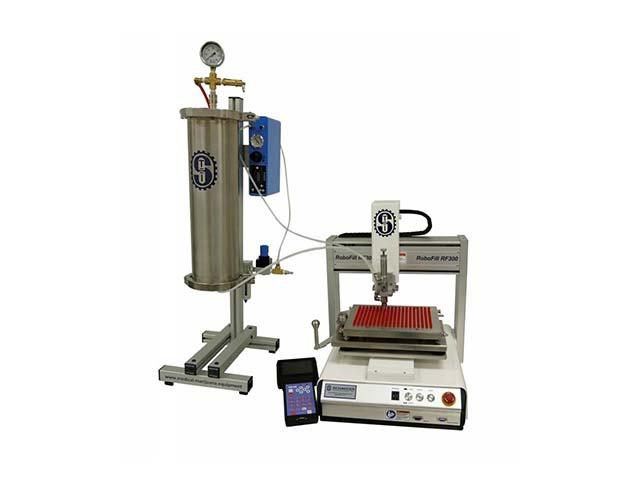 RF301 Robotic liquid capsule filler