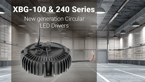 MEAN WELL XBG-100 & XBG-240 Circular LED Driver