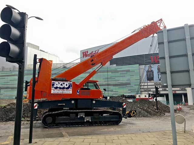 Telescopic Crane Hire : Agd equipment ltd crawler crane hire piling