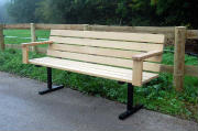 Iroko and Steel Seat