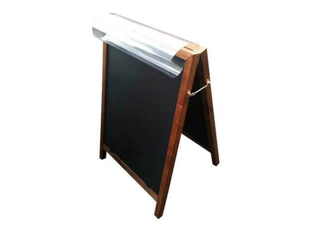 Chalkboard Pavement Sign & Poster Holder
