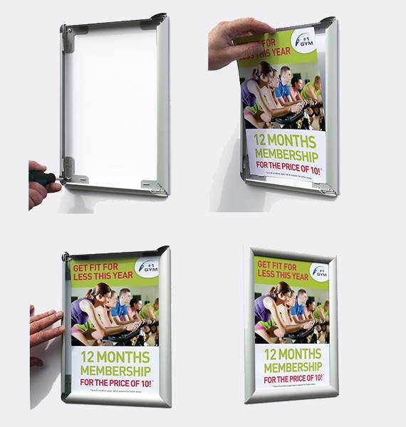 'NEW' lowest priced new design POSTER HOLDING SNAP FRAMES