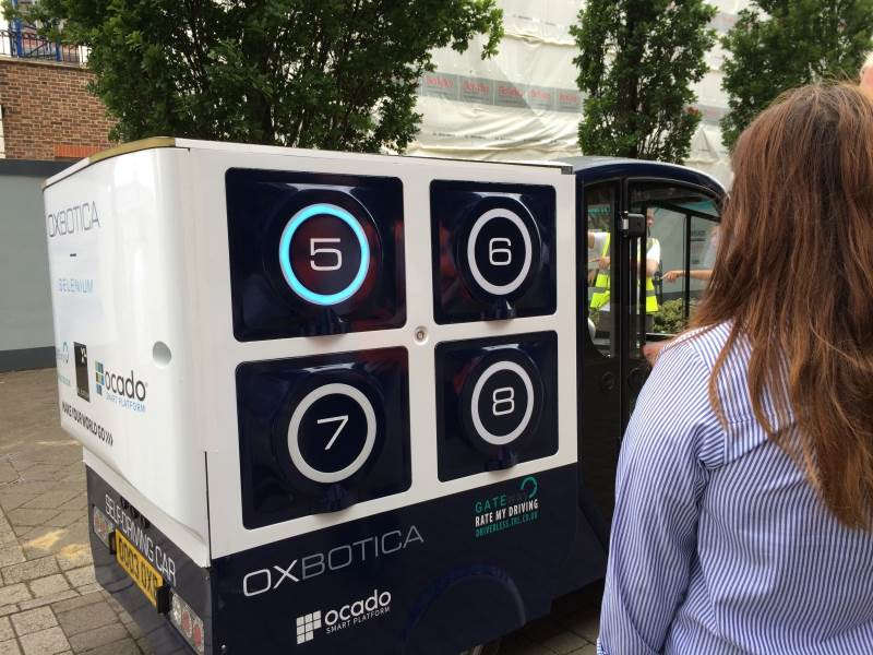 Convert's cable harness used in UK's first driverless grocery delivery trial.