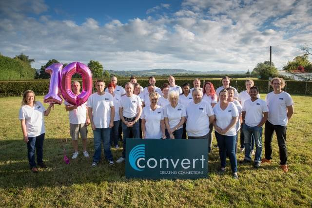Convert Ltd celebrates it's 10th anniversary.