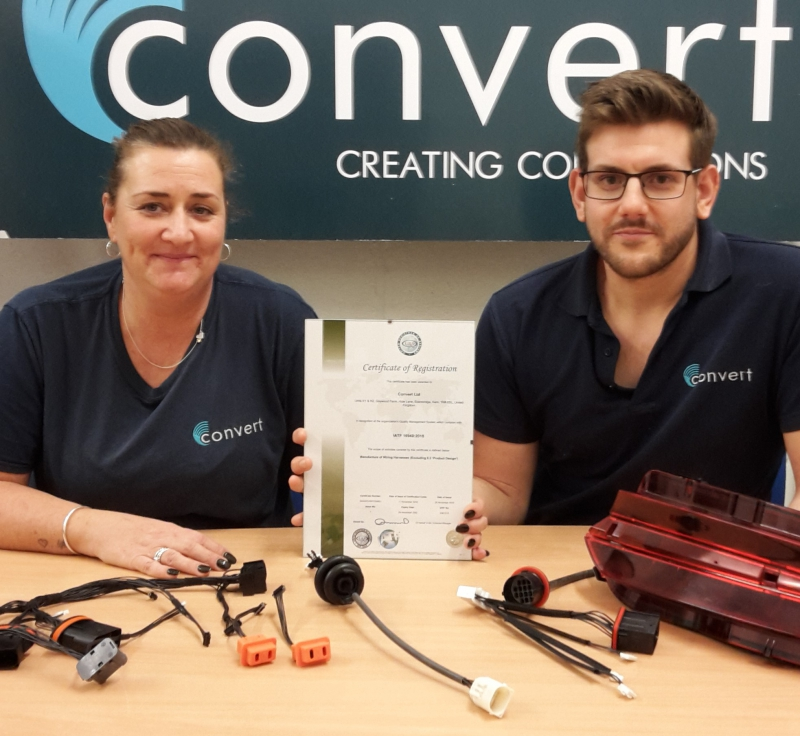 Convert Ltd celebrates securing IATF automotive quality management standard