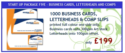 1000 Business Cards, Letterheads & Comp Slips