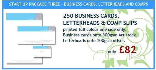 250 Business Cards, Letterheads & Comp Slips