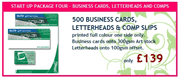 500 Business Cards, Letterheads & Comp Slips