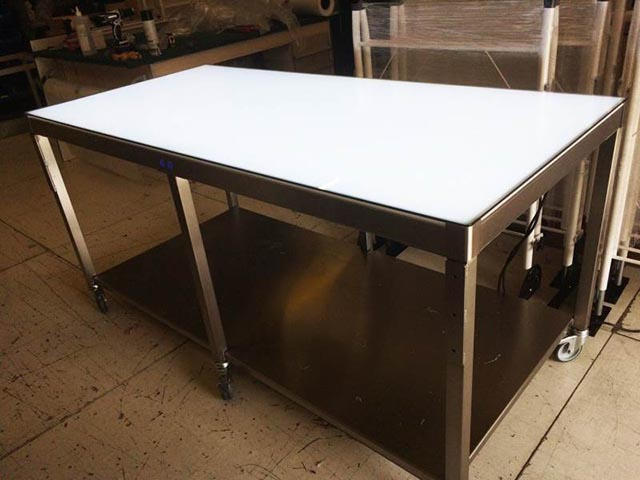 Stainless steel food grade inspection light table