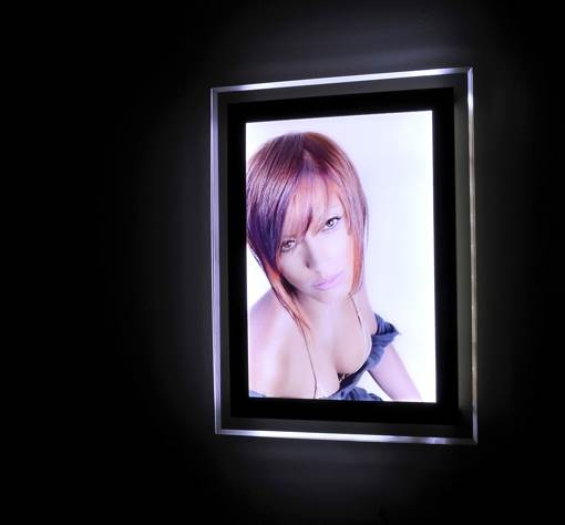 Wall mounted illuminated display boards
