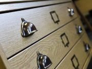 Wooden plan chest. Specialist handles and hardware