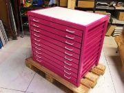 Custom paint finish metal A1 plan chests