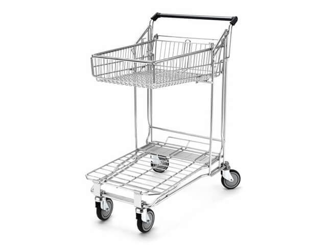 2 Tier Trolley With 55 Litre Basket