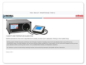 Complete humidity calibration range from Michell Instruments and Rotronic: