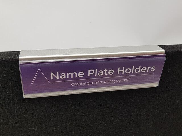 Aluminium Partition Name Plate Holder