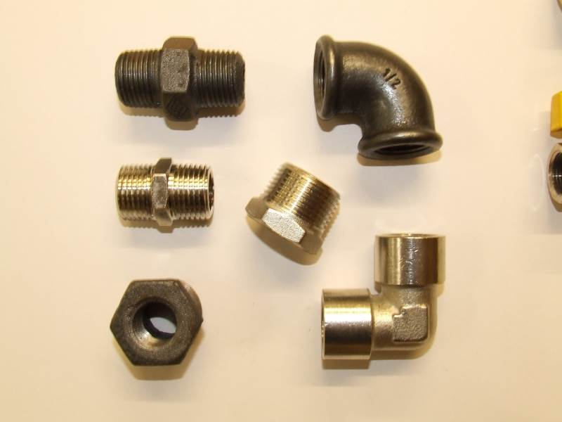 Steel Tube and Fittings Black and Galvanised