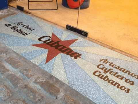 Bringing your brand to life! Water Jet Cutting Terrazzo...