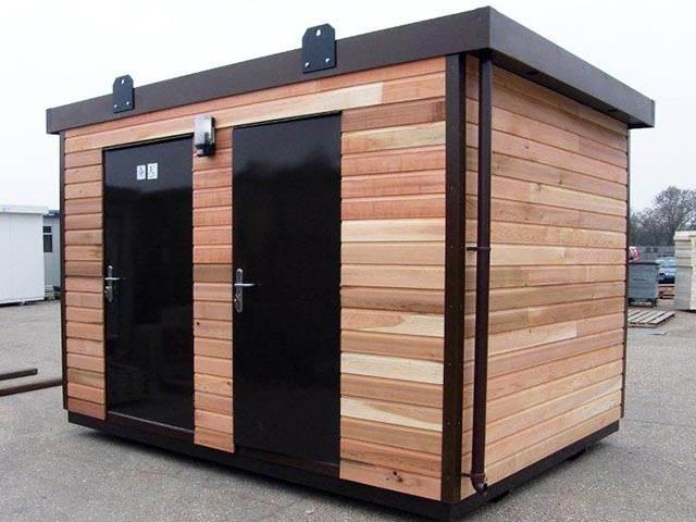 Cedar Clad Disabled Toilet