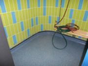Wet room installation in safety vinyl