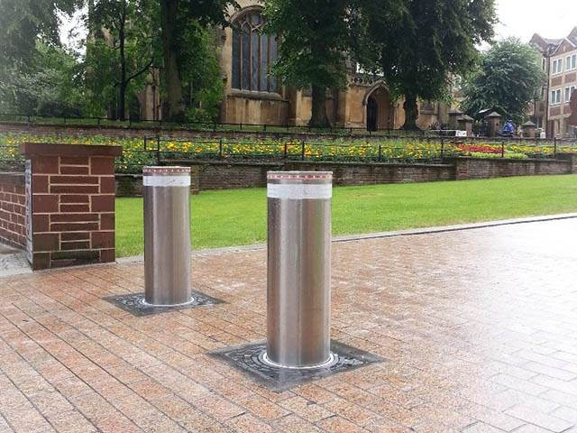 Automatic Bollards for Traffic Calming