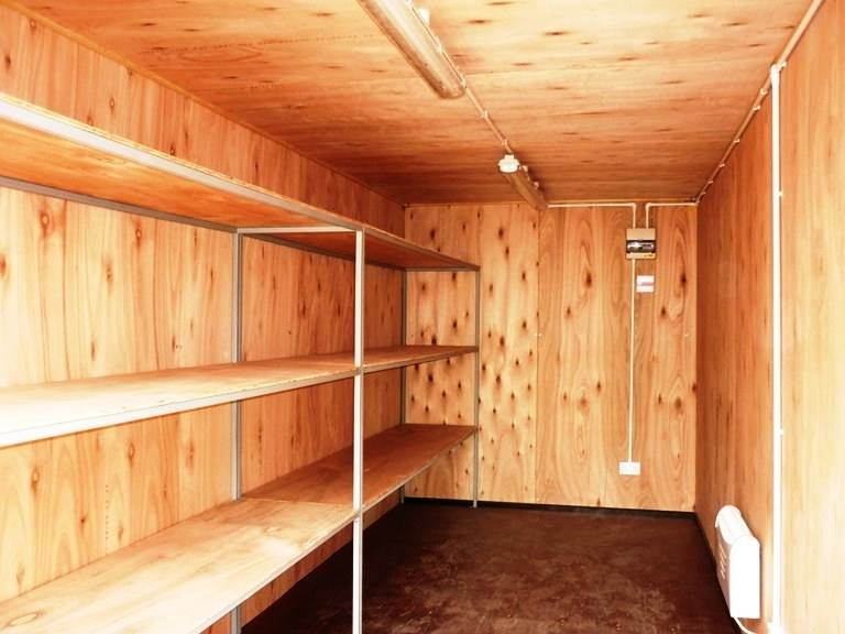 Wood lined Shipping Container