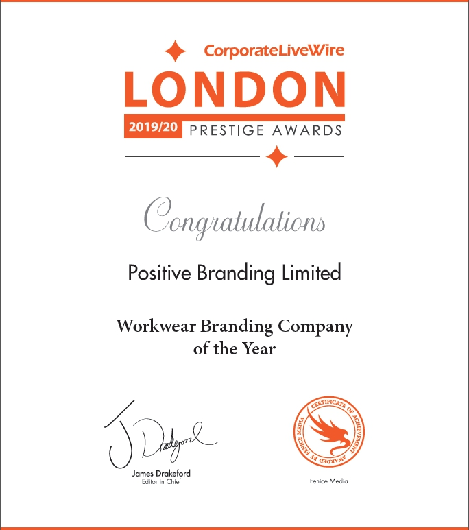 AWARD WINNERS - Workwear Branding Company of the Year