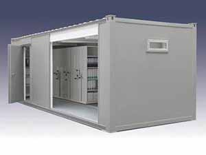 Mobile Shelving in Container or Portable Cabin