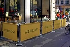 Cafe Barrier: Adfresco Premium Range