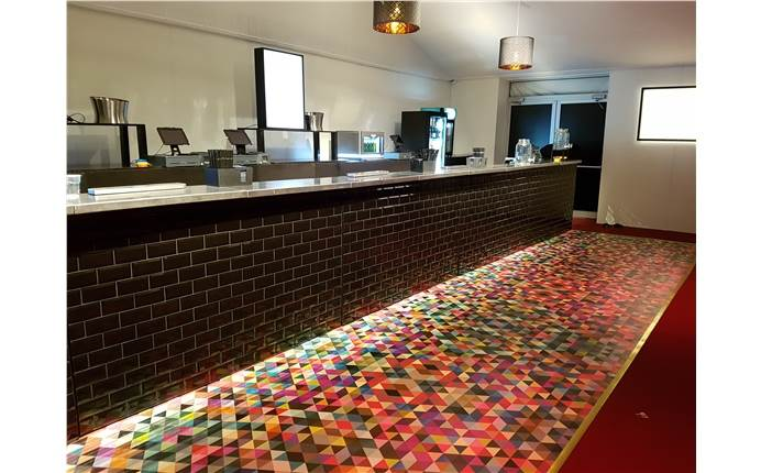 Printed Harlequin floors rolled out for the opening of the Embankment Cinema