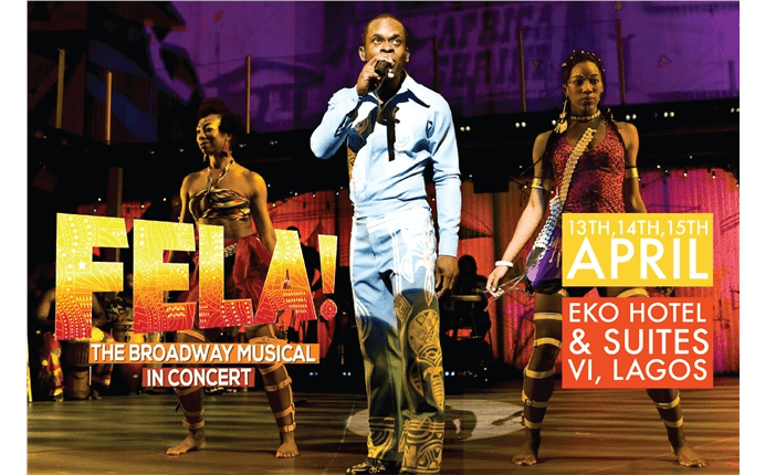 Harlequin Reversible chosen for Fela! The Broadway Musical in concert, Lagos.