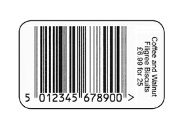 Printed Barcode Labels