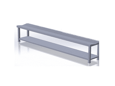 Bench with Undershelf for Shoe Storage