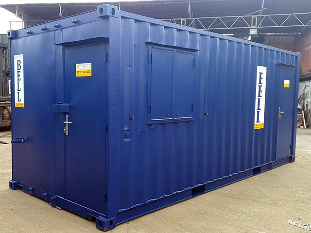 20ft office from portable hire fleet