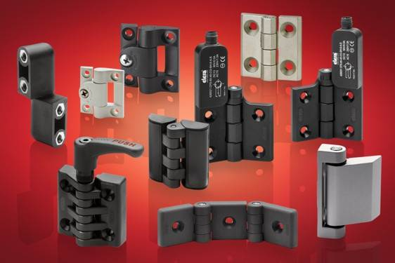 Plastic, metal and stainless steel hinges