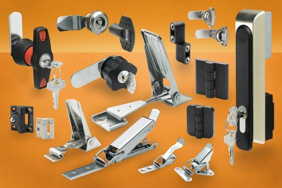 Locks, latches & hinges for enclosures