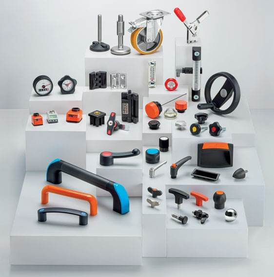 Plastic & metal standard machine parts from Elesa
