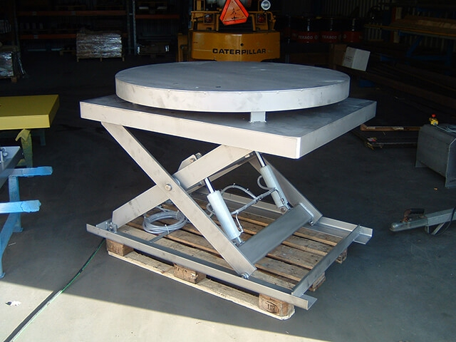 stainless steel scissor lift with turn table